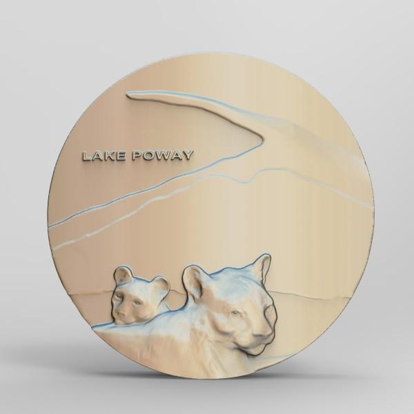 Lake Poway / Potato Chip Rock Concept Mock by Richard Becker