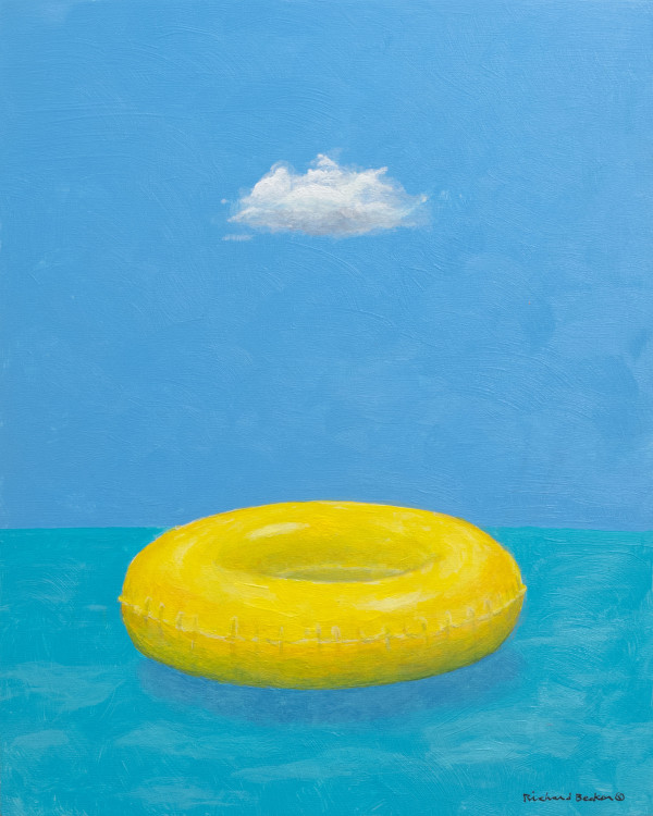 Blue Skies and Yellow Float by Richard Becker
