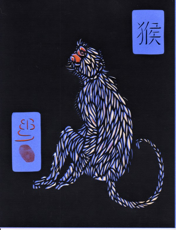 """Monkey (From the series, """"Endangered Chinese Zodiac) by Ellen Sandbeck"""