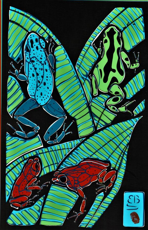 Poison Dart Frogs by Ellen Sandbeck