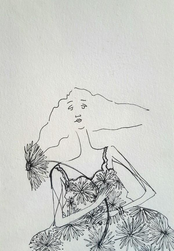 Girl with Dahlia by Andrea Sartori
