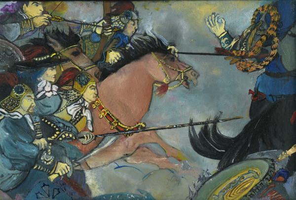Genghis Flees by Andrea Sartori