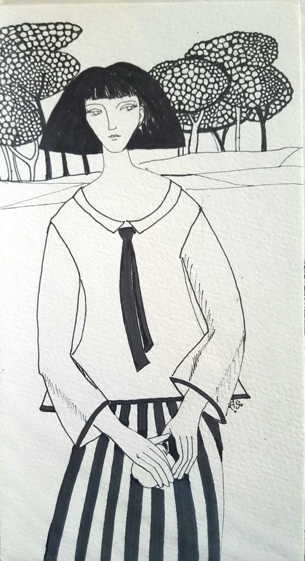 Girl and Trees by Andrea Sartori