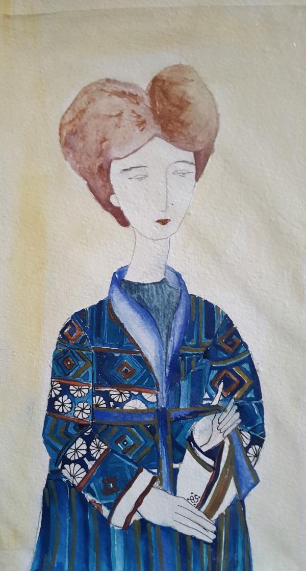 Girl with Kimono by Andrea Sartori