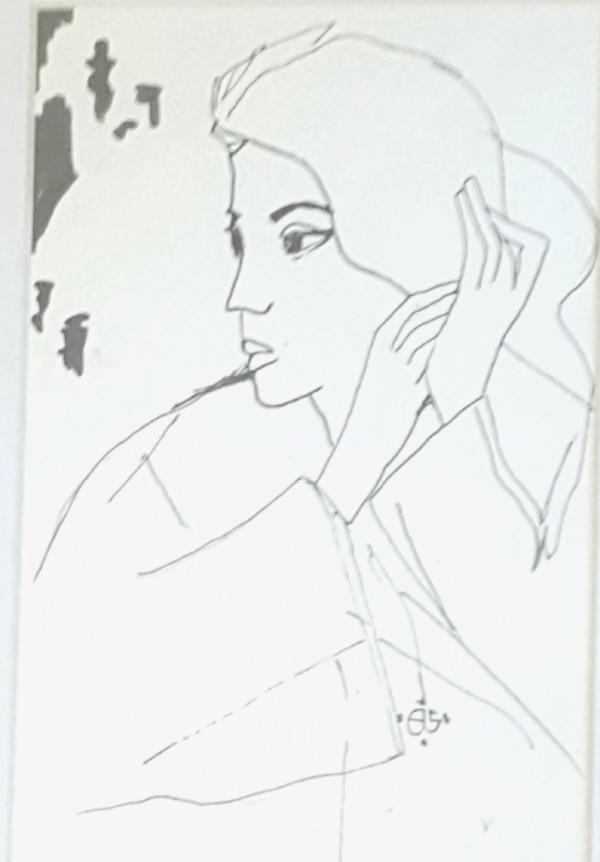 Girl with seashell by Andrea Sartori