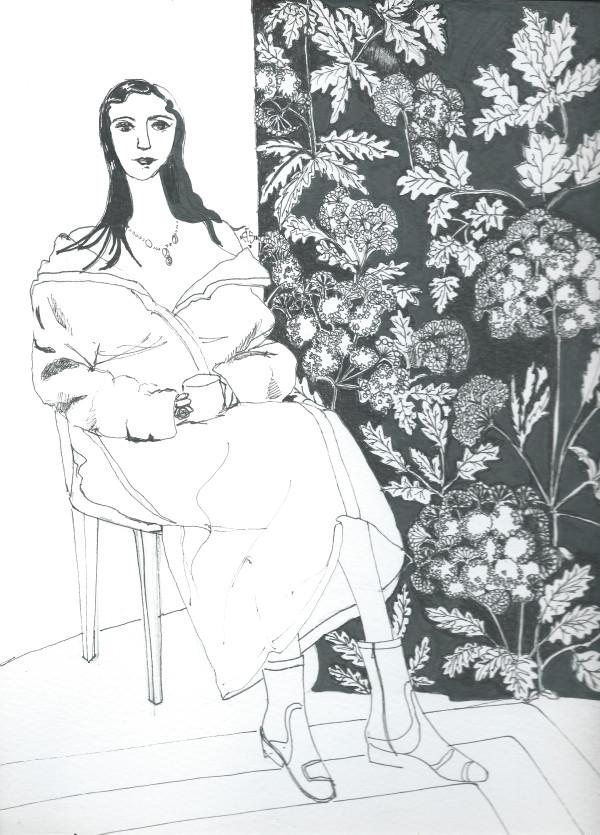 Girl with tea by Andrea Sartori