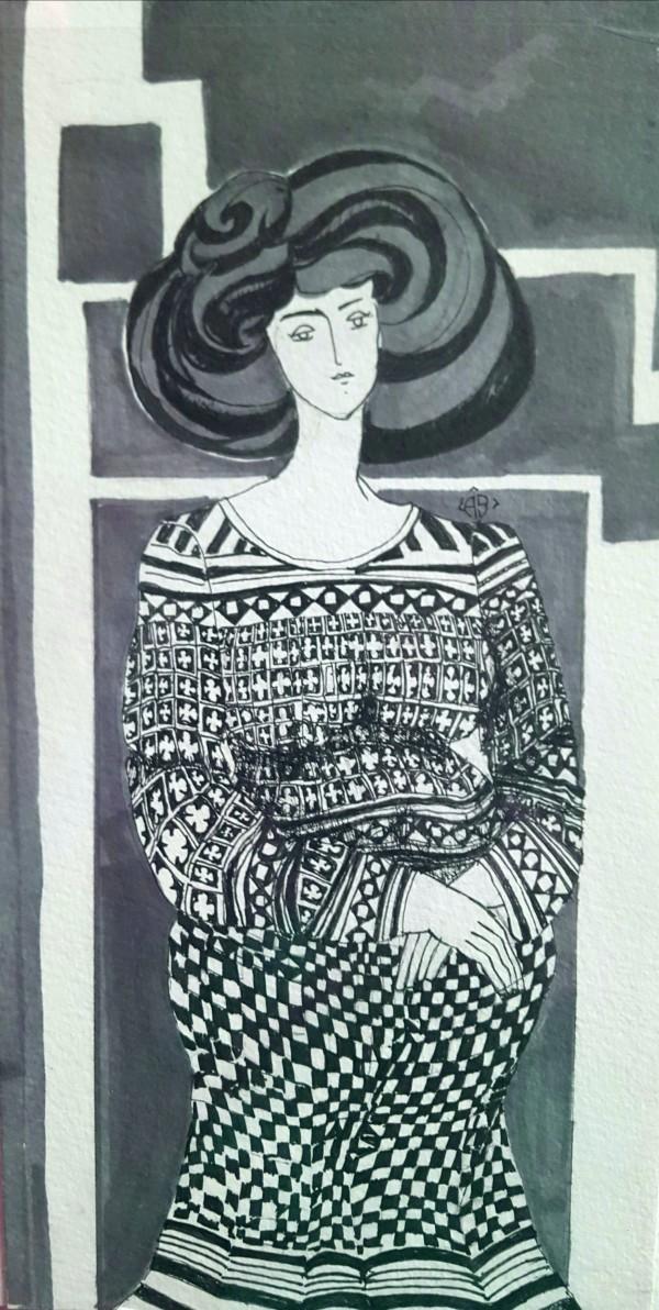 Woman Waiting by Andrea Sartori