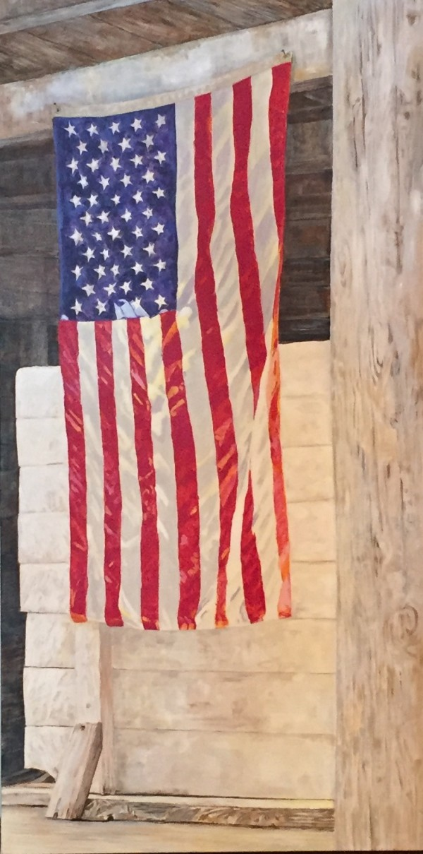 Barn Flag, Eastern Morning Light by Carol Rowan