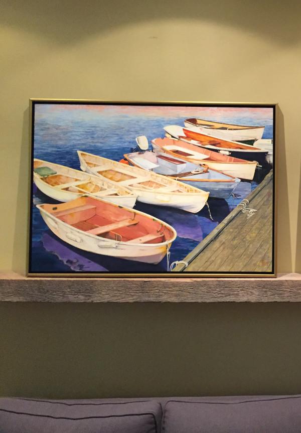 Harbor Dinghies by Carol Rowan