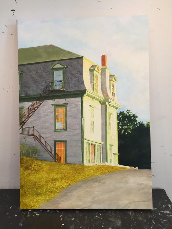 Hopper's House, in progress by Carol Rowan
