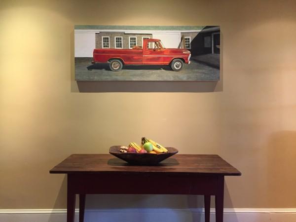 The Red '67 Ford 100 by Carol Rowan