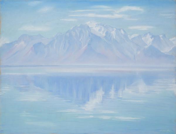 Grammont, lumière d'hiver by LECOULTRE John-Francis (1905-1990)