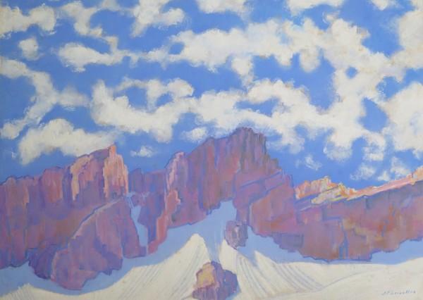 Ronde des nuages, massif du Muveran by LECOULTRE, John-Francis (1905-1990)
