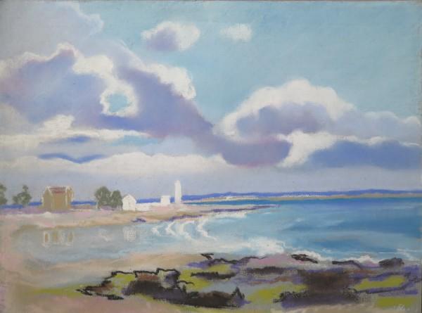 Embouchure de la rivière de Pont - l'Abbé by LECOULTRE John-Francis (1905-1990)