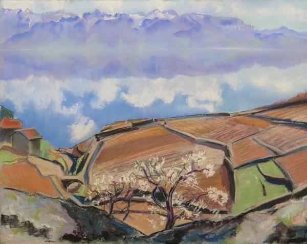 Balcon du Léman, printemps by LECOULTRE John-Francis (1905-1990)