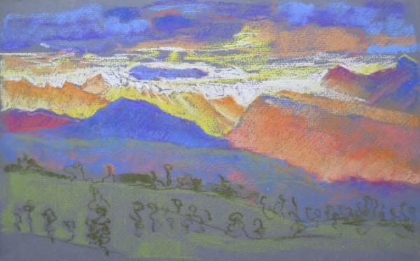 Coucher de soleil sur le Valais by LECOULTRE John-Francis (1905-1990)