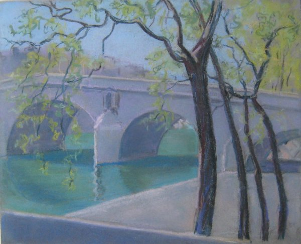 Paris, Pont Marie, printemps by LECOULTRE John-Francis (1905-1990)
