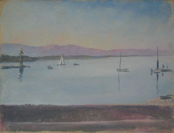 Le Petit-Lac, avec le phare des Pâquis by LECOULTRE, John-Francis (1905-1990)