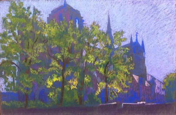 Paris, Notre-Dame à contre-jour by LECOULTRE John-Francis (1905-1990)