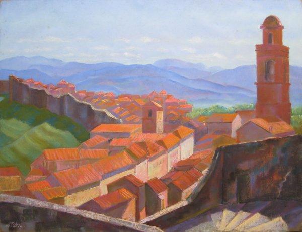 Perugia, vue de puis les remparts by LECOULTRE John-Francis (1905-1990)