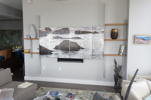 TV Cover with Shelves by Julie and Ken Girardini