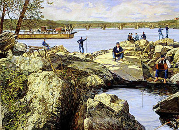 All Quiet Along the Potomac in 1862 by Frank Wright