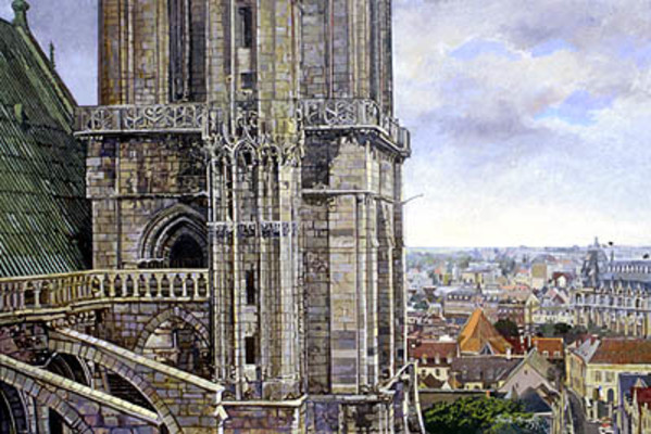 Chartre Cathedral by Frank Wright