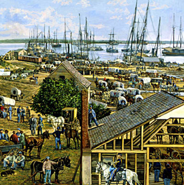 City Point in 1864 by Frank Wright