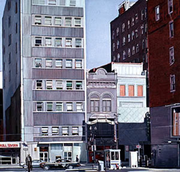 9th Street  (Fourth of Five Panel Polyptych) by Frank Wright