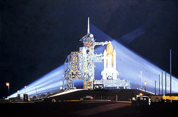 The Night Before the Launch by Frank Wright