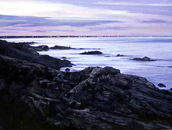Lights Along the Shore, Perkins Cove, Maine by Frank Wright