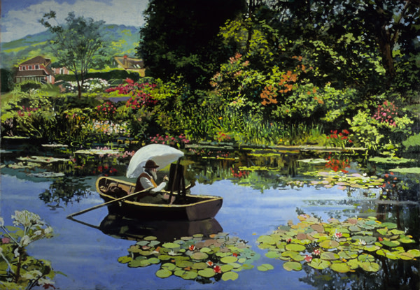 Monet in Giverny by Frank Wright