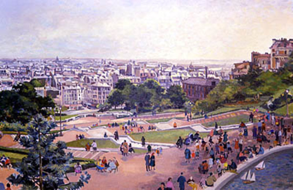 Paris from Sacre-Coeur by Frank Wright