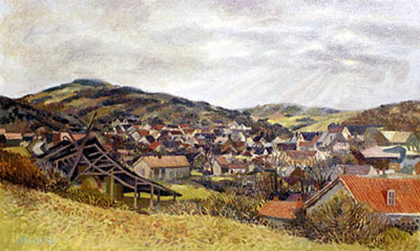 Village Near Sens by Frank Wright
