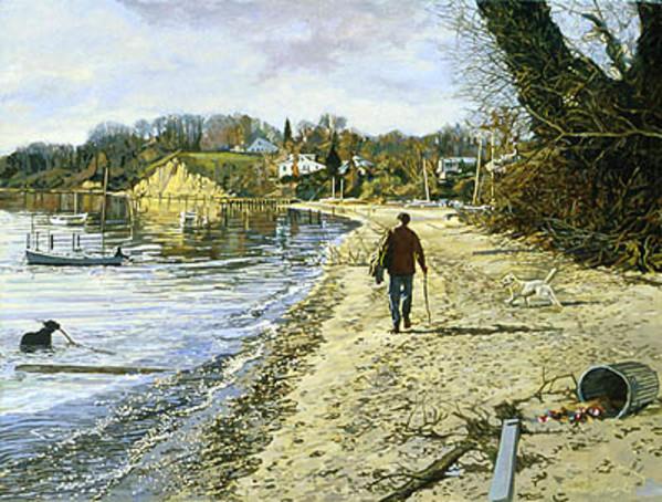 November Walk on the Beach by Frank Wright