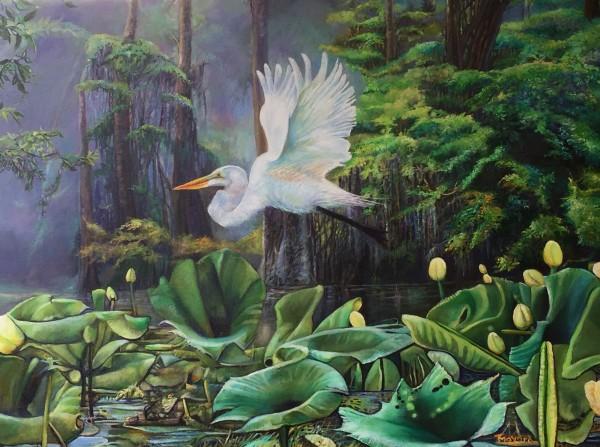 "Swamp Spirits 2020 ""Frog's Eye View"" by Tony Mayard"