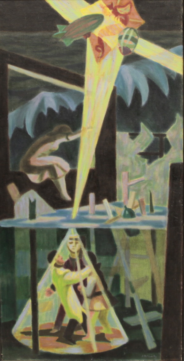 "study for ""Vanport Flood"" by Jack McLarty"