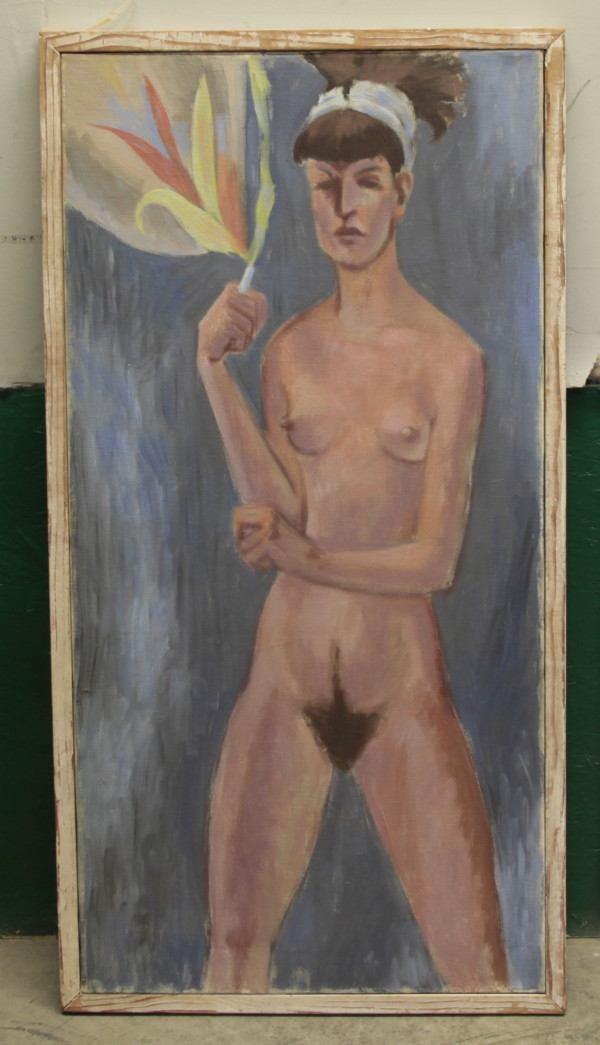 Nude with Cigarette by Jack McLarty