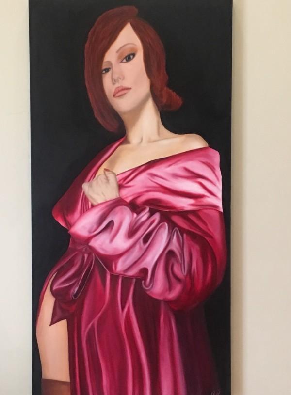 Crimson Folds by Di Parsons