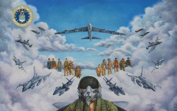 Storm Over the Desert (U.S. Air Force) by Teri Rosario