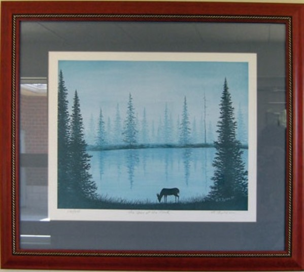 The Deer at the Pond by R. Byram
