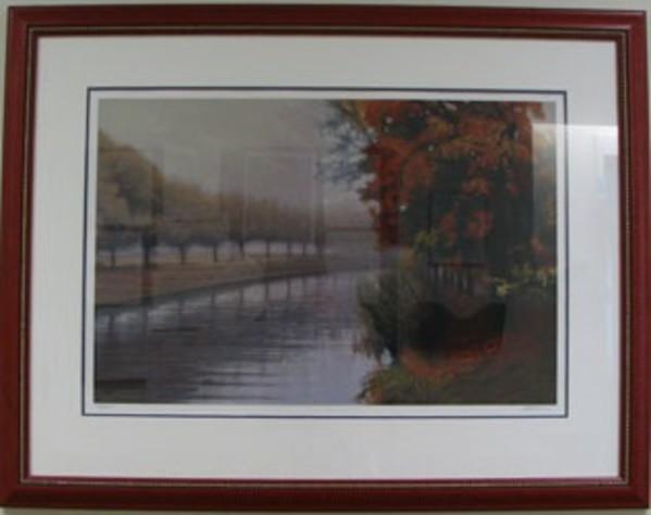 Canal in Autumn Mist I by John Friedman