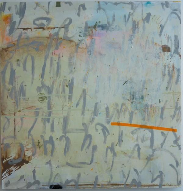 Untitled script w/orange bar by Rick Johns