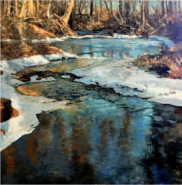 Brawley Creek, January Freeze by John  Louder
