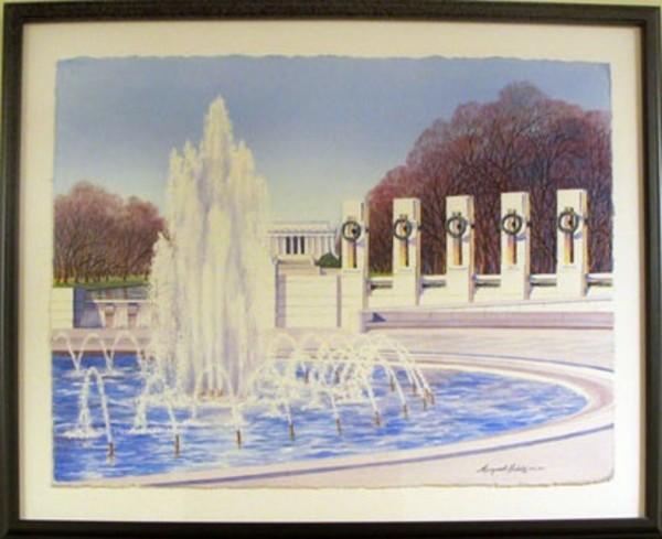 World War II Memorial (D.C.) by Margaret Huddy