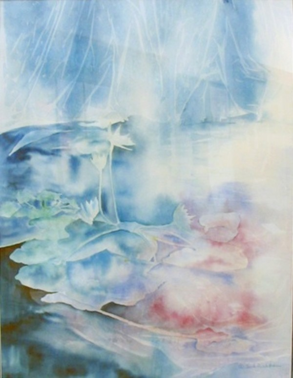 Sunken Garden Series - Lily Pond by Jeanette L. Richstatter