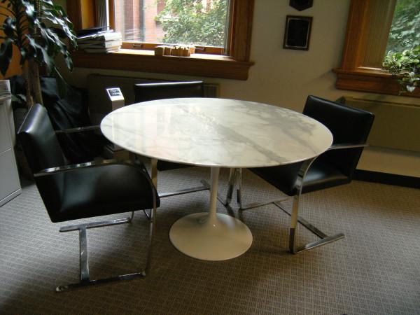 "Tulip Pedestal Table (47"" diameter) by Eero Saarinen"