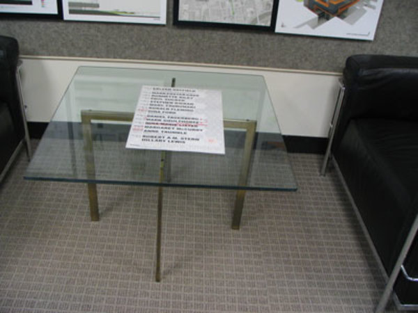 Barcelona Table (2 of 2) by Ludwig Mies van der Rohe