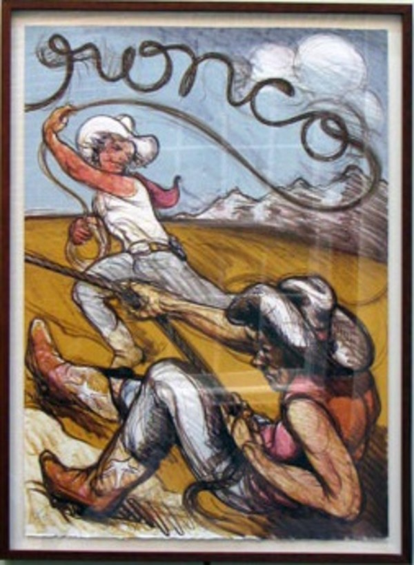 Bronco (diptych, right panel) by Luis Jimenez