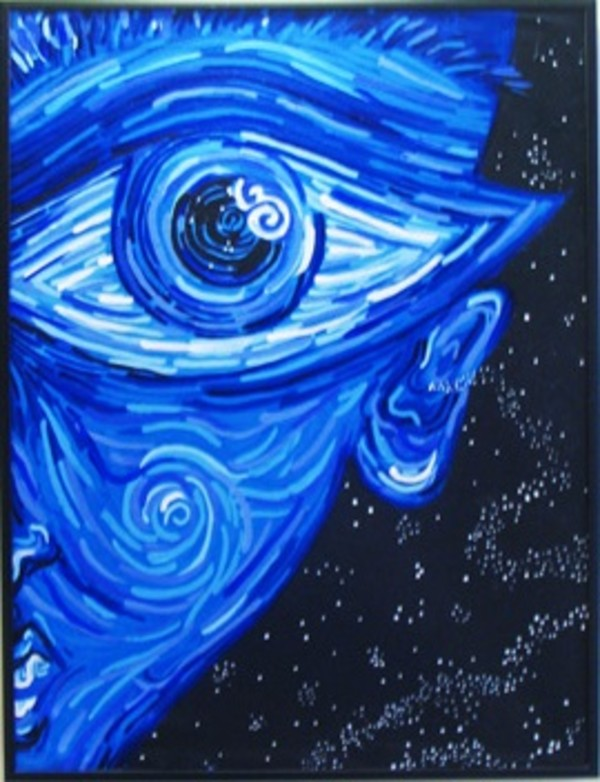 Big Blue Eye by Unknown Artist